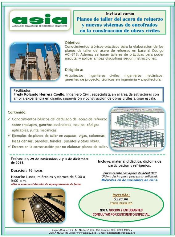 Curso planos de taller del acero de refuerzo y nuevos for Planos de obra civil